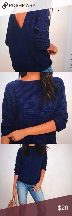 Island ferry navy blue sweater Island ferry navy blue sweater Never worn Will send more pictures if needed still in packaging though  Size small Lulu's Sweaters Crew & Scoop Necks