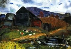 George Bellows, Old Barn in Shady Valley on ArtStack #george-bellows #art