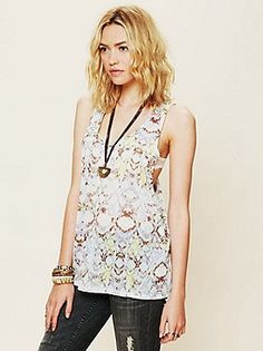 Free People Clothing Boutique > Izzy Printed Tank