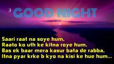 Good night shayeri photos collection