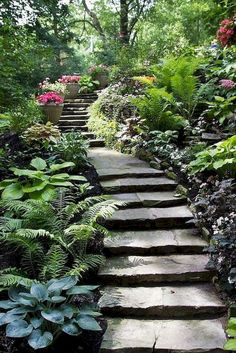 95 Incredible Garden Pathway Ideas for Backyard and Front Yard – Landscaping 2020 Amazing Gardens, Beautiful Gardens, Path Design, Design Ideas, Garden Stairs, Design Jardin, Woodland Garden, Backyard Landscaping, Landscaping Ideas
