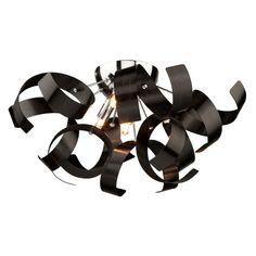 Found it at AllModern - Bel Air Flush Mount Similar whimsy ... in black. Foyer