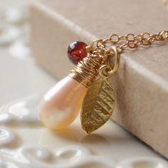 NEW Custom Birthstone Necklace Sterling Silver by myfirstjewellery, $58.00