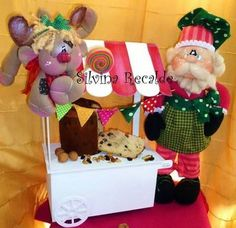 ESTACION DE CUP CAKE Diy And Crafts, Christmas Crafts, Mary Christmas, Projects To Try, Gift Wrapping, Crafty, Holiday Decor, Pasta Flexible, Deco Mesh
