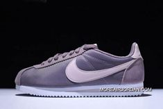 meet 7703a cb576 WMNS Nike Classic Cortez Nylon Taupe GreySilt Red-White 749864-200 New  Style