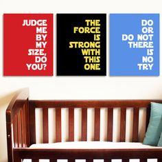 "think4yourself: (via Star Wars Quotes SET of 3 Art Prints 10""x8"" Children Nursery Bedroom Gift | eBay) paging evangotlib."