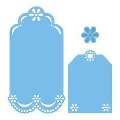 Marianne Design creatables Motif forme tag étiquette fleur