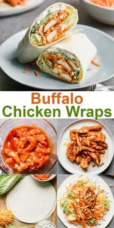Buffalo Chicken Wrap Buffalo Chicken Wrap is tangy chicken, with vegetables, avocado, and a thin layer of buffalo dressing. Good Healthy Recipes, Healthy Meal Prep, Healthy Foods To Eat, Lunch Recipes, Healthy Eating, Cooking Recipes, Yummy Healthy Food, Best Food Recipes, Healthy Cold Lunches