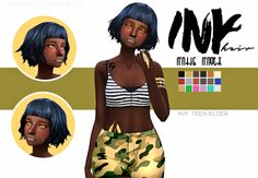 DOWNLOAD INK HAIR (DROPBOX)part 2 of followers gift coming soon :D • maxis match • base game • hat compatible • tested in game • enabled for male and female • custom thumbnail • only issue i could see...