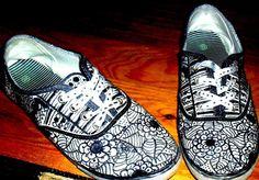 Shoe art drawing sharpie