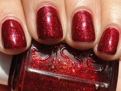 Essie Ruby Slippers - Christmas nails!