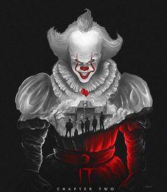 IT: Chapter Two 🎈Artwork by: Yowdi Santiar Horror Movie Posters, Horror Movie Characters, Horror Icons, Horror Movies, Pennywise Poster, Pennywise The Dancing Clown, Clown Horror, Halloween Horror, It The Clown Movie