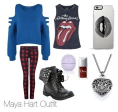 """Maya Hart (Girls meet world) outfit"" by superpaula ❤ liked on Polyvore featuring Topshop, WearAll, Dex, Lipsy, women's clothing, women's fashion, women, female, woman and misses"