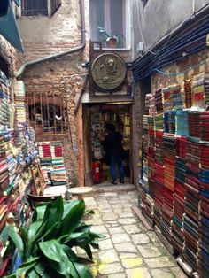 I love bookstores and of course books. My daughter recently in Italy sent this beautiful picture.