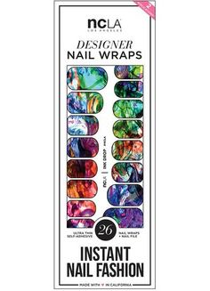 NCLA Nail Wrap   Ink Drop