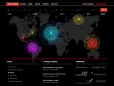 Design Tickle.com - Map Visual (though dark background is a mess)