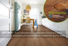 Now-days the leading trend for DECNO is the Waterproof Laminate flooring--- Ultra Core flooring. Waterproof laminate flooring combined the natural wood aspect with innovative high-density black substrate ,which ensures a genuine, mufti-functional, waterproof and mildew resistance laminate flooring. The black HDF substrate contains the core technical advantages of atomic hydrogen and activated carbon, plus with the four edge waxing, which improves the waterproof degree of the whole floor…