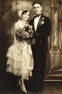 1920's wedding pictures - Google Search  Nice looking couple!