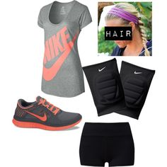 """My Volleyball Outfit"" by j-hamm-1 on Polyvore cheap Nike Cheap Nike Free Run 3  $48, save up to 50% off for all #Nikes #Shoes"