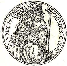 Childeric II. Lineage: Clovis I - Lothair I - Chilperic I - Lothair II - Dagobert I - Clovis II - Childeric II