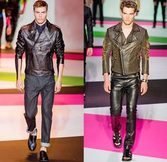 Versace 2014 Spring Summer Mens Runway Collection - Milan Catwalk Fashion Show: Designer Denim Jeans Fashion: Season Collections, Runways, Lookbooks and Linesheets