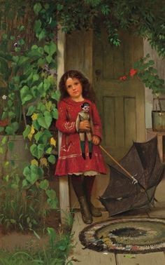 """""""Girl with Doll"""" -- John George Brown (1831 – 1913, English-born American)"""