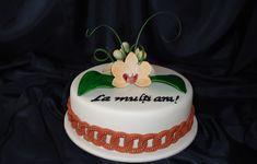Pentru o doamna, desigur, un tort elegant cu orhidee.
