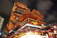 Buddha Tooth Relic Temple with  Tang Dynasty Roof