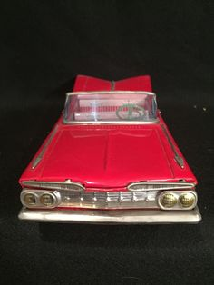 1959 CHEVROLET 2 DOOR CONVERTIBLE JAPAN TIN CAR ORIGINAL BOX | eBay