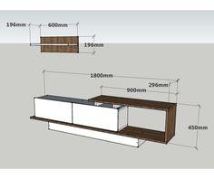 Asos Walnut TV Komód és kispolc - Vivre Tv Unit Furniture, Furniture Design, Tv Rack Design, Interior Design Living Room, Living Room Decor, Tv Unit Interior Design, Modern Tv Wall Units, Living Room Tv Unit Designs, Home Room Design