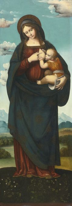 Lombard School, early16th Century   MADONNA STANDING IN A LANDSCAPE, NURSING THE INFANT CHRIST   Sotheby's
