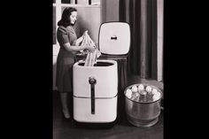 Liberating Women with Technology    It's debatable whether the 1947 Thor combination dishwasher and clothes washer helped liberate women from housework. Just don't put the underwear in with the coffee cups.