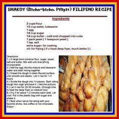 SHAKOY (Bicho-bicho, Pilipit) FILIPINO RECIPE: