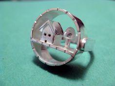 Cortile piccolo anello argento di JillKDavisJewelry su Etsy