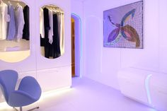 LED Flex Strip Lighting provides a great to this futuristic bedroom.
