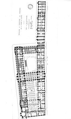 Palais du Louvre, aile Richelieu. Plan d'installation du ministère des finances au cours des années 1880/1890.