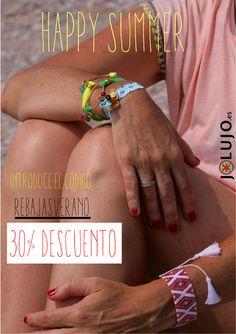 No dejarán de mirarte con estas pulseras.  Ahora con dto. www.jolujo.es