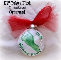 Diy baby gifts for grandparents christmas ornament 30 Ideas for 2019 Baby Christmas Crafts, Picture Christmas Ornaments, Baby Ornaments, Christmas Pictures, Christmas Projects, Christmas Ideas, Christmas 2014, Holiday Crafts, Holiday Ideas