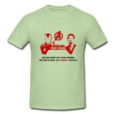 Iron Man Tony Stark Short Sleeve T-shirts on Sale-Funny T-shirts shop from HICustom.net .24 hour service available.