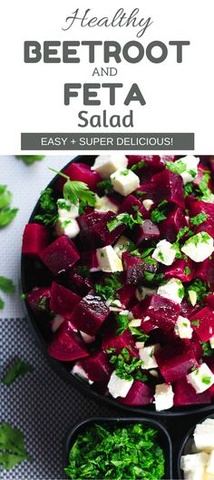 Healthy Beetroot and Feta Salad - This salad has the perfect balance of sweet and salty from the beetroot and feta cheese - SO good! Super healthy and tastes even better!