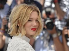 Hair Lookbook: Lea Seydoux wearing Bob (52 of 65). Lea Seydoux looked cute with her mussed-up, center-parted bob at the Cannes photocall for 'It's Only the End of the World.'