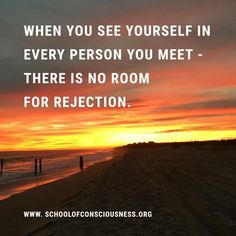 When you see yourself in every person you meet ...