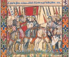 Panel 3 of Page 2 of Cantiga 187 of the Cantigas de Santa Maria of Alfonso X - The castellan informed him that fifteen hungry men held it. Medieval Manuscript, Medieval Art, Illuminated Manuscript, Prophets And Kings, Seal Of Solomon, Solomons Seal, Grenade, Sultan, Moorish