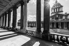"""""""Columns"""" Old Royal Naval College, Greenwich, London, UK. Image by David Gutierrez Photography, London Photographer. London photographer specialising in architectural, real estate, property and interior photography. http://www.davidgutierrez.co.uk #realestate #property #commercial #architecture #London #Photography #Photographer #Art #UK #City #Urban #Beautiful #Interior #Arts #Cityscape #Travel #Building #Monochrome #BlackAndWhite """