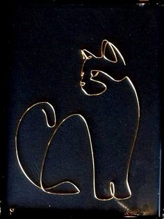 Cat (by – ARTA SÂRMEI You are in the right place about Cute Cats persian Here we offer you the most beautiful pictures abo Wire Crafts, Metal Crafts, Jewelry Crafts, Wire Wrapped Jewelry, Wire Jewelry, Jewelery, Wire Art Sculpture, Sculptures, Copper Wire Art