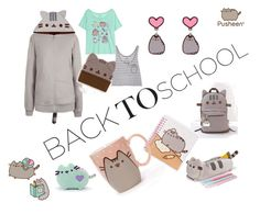 """""""#PVxPusheen"""" by jmh2643 ❤ liked on Polyvore featuring Pusheen, contestentry and PVxPusheen"""