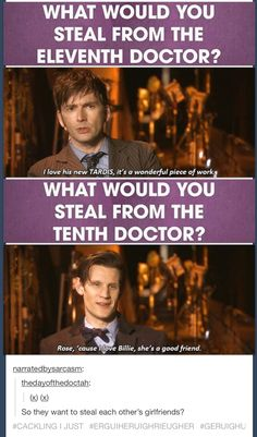 This is awesome. I really like that Tennant actually says he doesn't like the new Tardis as the doctor hehe