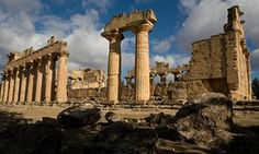 The Temple of Zeus, part of the world heritage site at Cyrene, Libya.