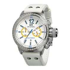 TW Steel Ladies CEO Watch with White Leather Strap
