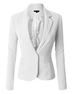 LE3NO Womens Classic Fitted Boyfriend Blazer Jacket